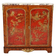 19th Century French Louis XVI Design Chinoiserie Cabinet by Paul Sormani
