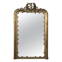 19th Century French Louis XVI Gilded Mirror