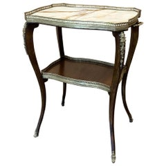 19th Century French Louis XVI Marble-Top End Table