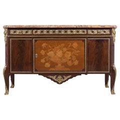 19th Century French Louis XVI Marquetry Commode