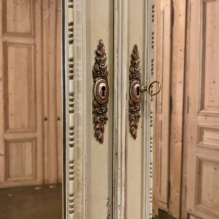 19th Century French Louis XVI Painted Armoire For Sale 7