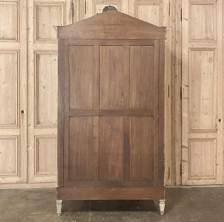 19th Century French Louis XVI Painted Armoire For Sale 9