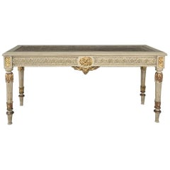 19th Century French Louis XVI Painted Banquette, Bench