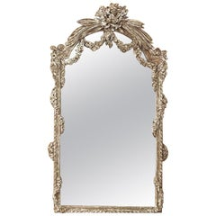 19th Century French Louis XVI Painted Mirror