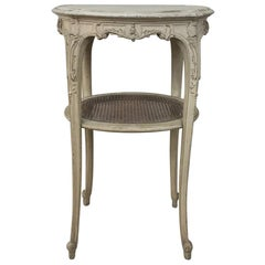 19th Century French Louis XVI Painted Oval End Table