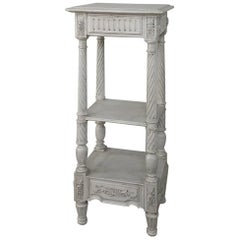 19th Century French Louis XVI Painted Pedestal