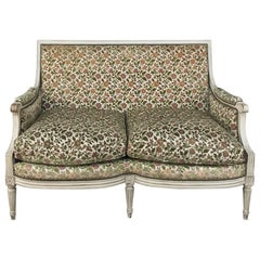 19th Century French Louis XVI Painted Sofa, Canape