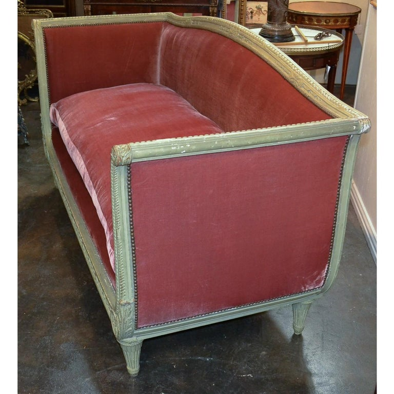 19th Century French Louis XVI Painted Sofa In Good Condition For Sale In Dallas, TX