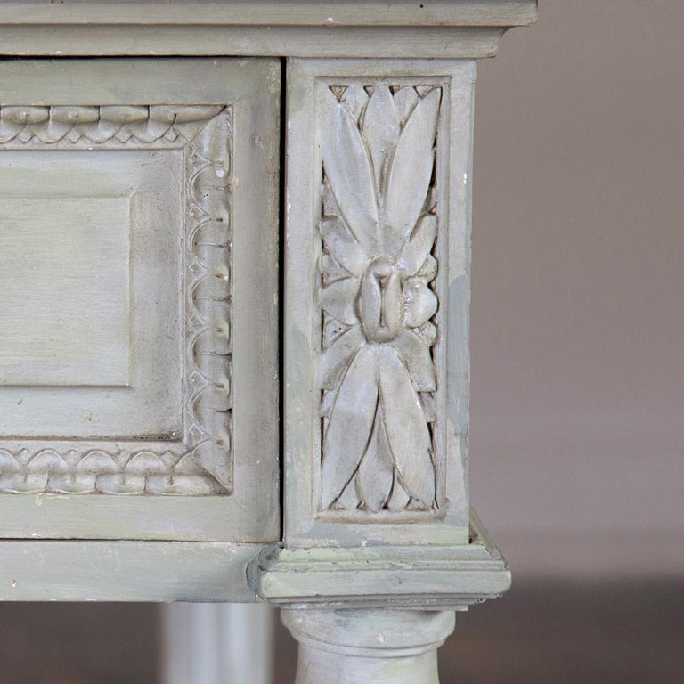 19th Century French Louis XVI Painted Vanity, Writing Table For Sale 6