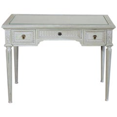 19th Century French Louis XVI Painted Vanity, Writing Table