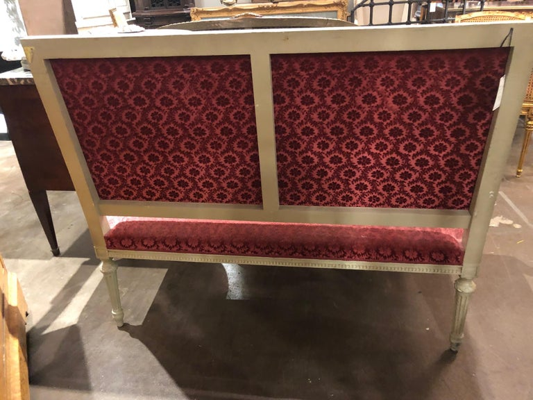 19th Century French Louis XVI Settee In Good Condition For Sale In Dallas, TX
