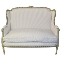 19th Century French Louis XVI Settee or Sofa
