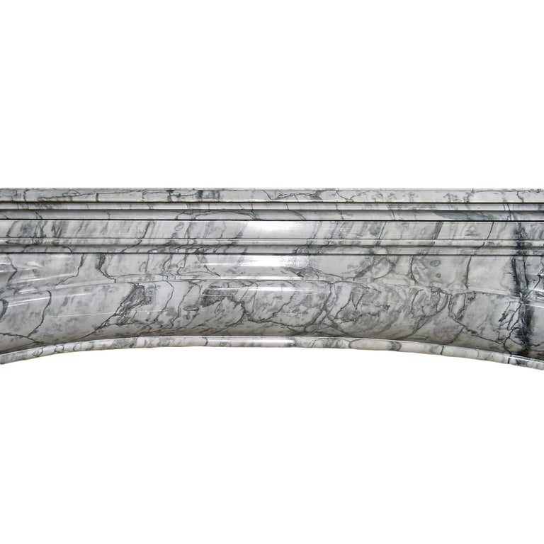 19th Century French Louis XVI Style Gris St. Anne' Marble Mantle For Sale 1