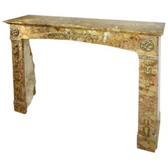19th Century French Louis XVI Style Marble and Ormolu Mounted Mantel