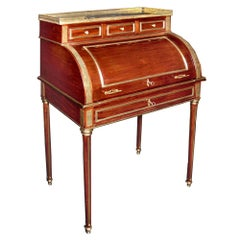 19th Century French Louis XVI Style Mounted Ladies Cylinder Desk