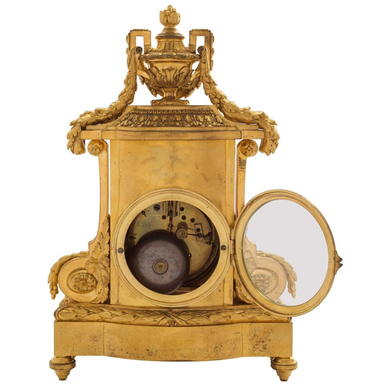 19th Century French Louis XVI St. Ormolu Clock, Signed 'F. Barbedienne' For Sale 1