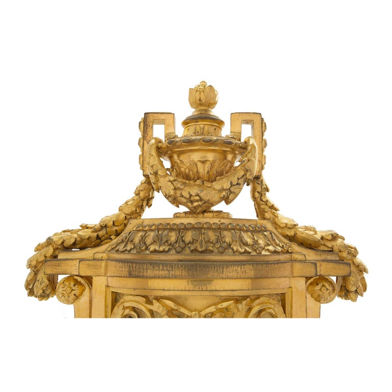 19th Century French Louis XVI St. Ormolu Clock, Signed 'F. Barbedienne' For Sale 2