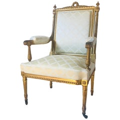 19th Century French Louis XVI Style Armchair a la reine after Georges Jacob