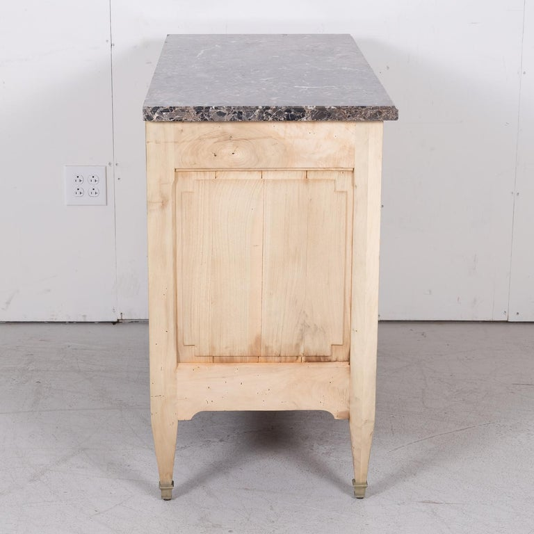 19th Century French Louis XVI Style Bleached Three-Drawer Commode with Marble To For Sale 13