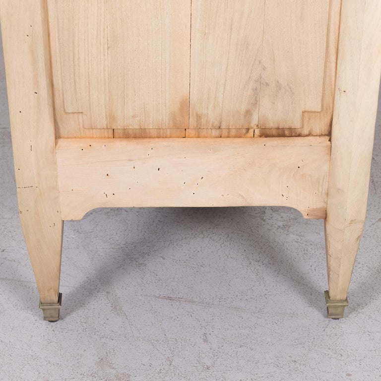 19th Century French Louis XVI Style Bleached Three-Drawer Commode with Marble To For Sale 15