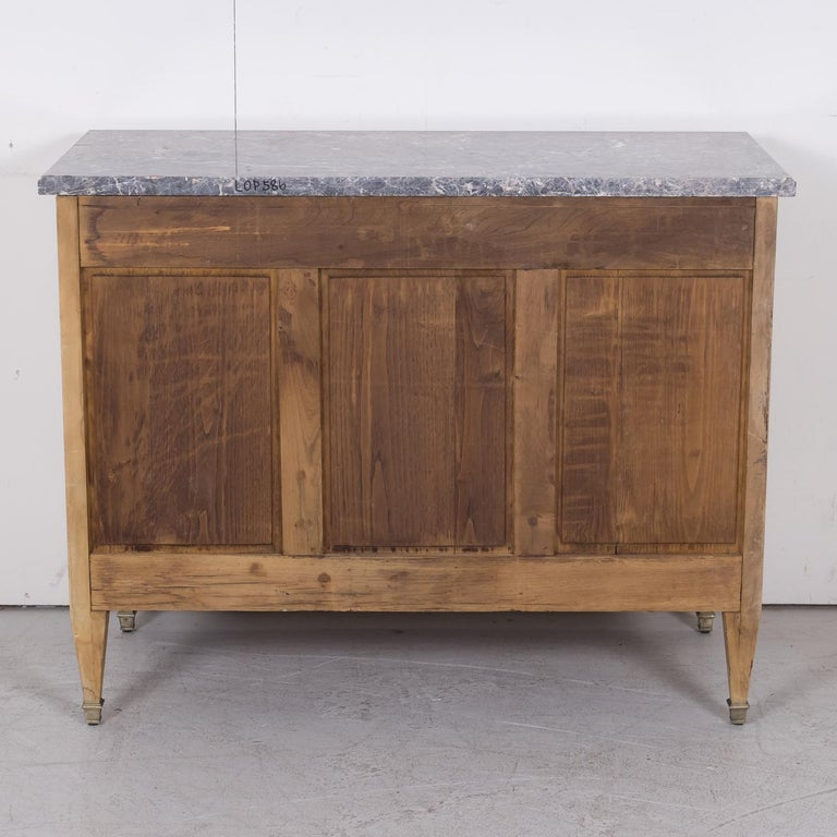 19th Century French Louis XVI Style Bleached Three-Drawer Commode with Marble To For Sale 16