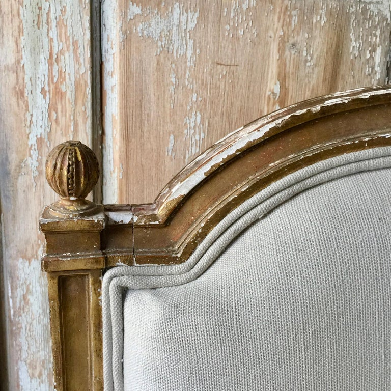 19th Century French Louis XVI Style Canapé In Good Condition For Sale In Charleston, SC