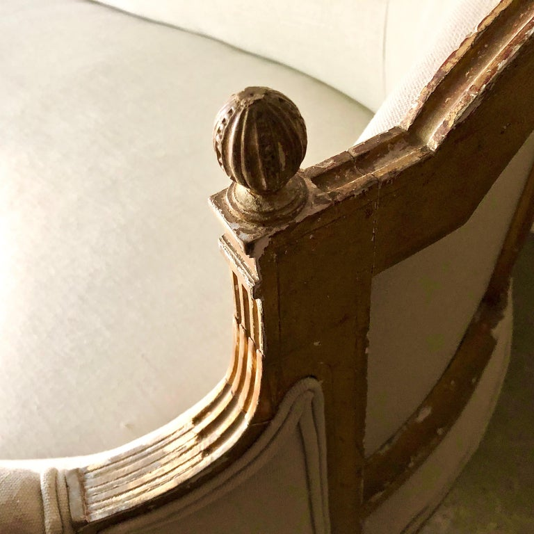 19th Century French Louis XVI Style Canapé For Sale 3