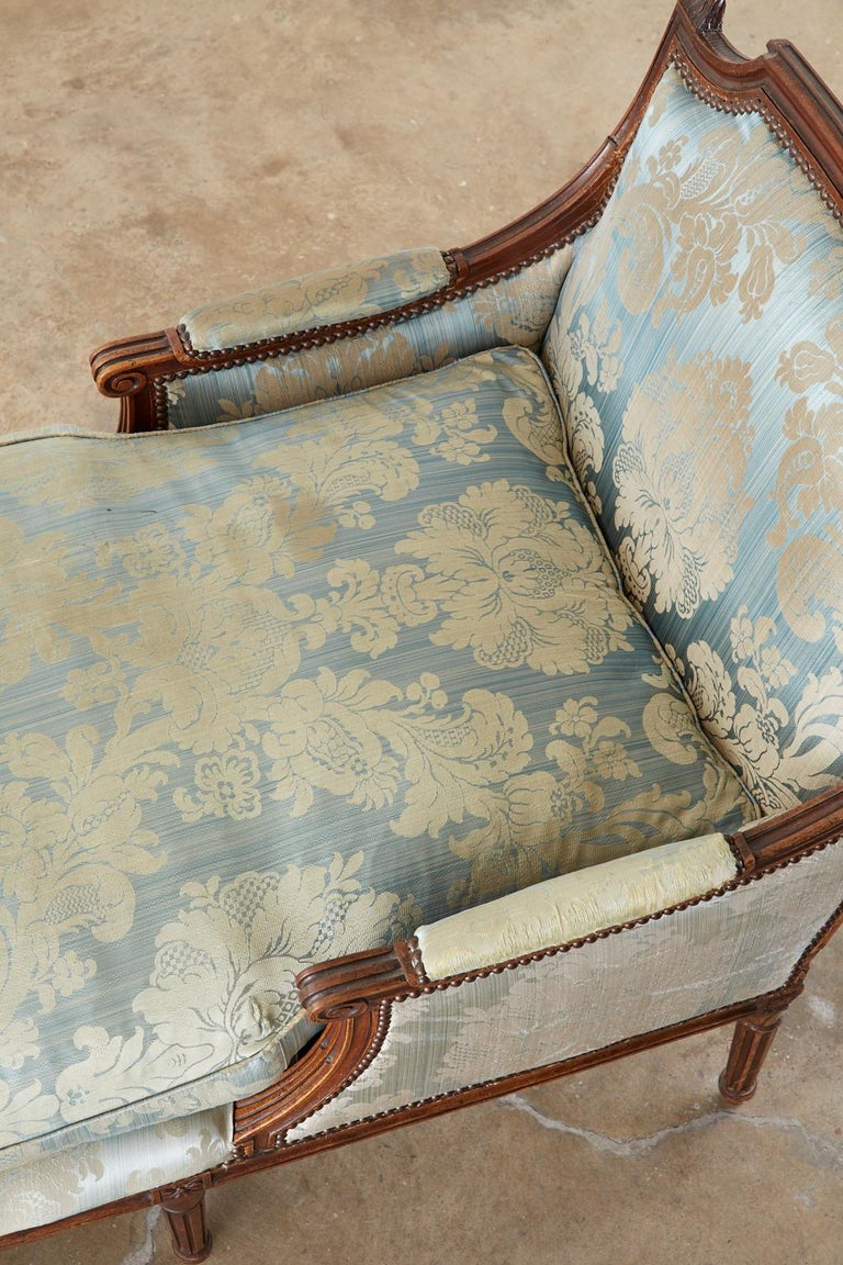 19th Century French Louis XVI Style Chaise Lounge Daybed For Sale 13