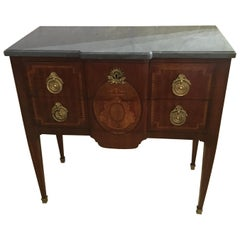 19th Century French Louis XVI Style Commode, Chest of Drawers or Dresser, Signed