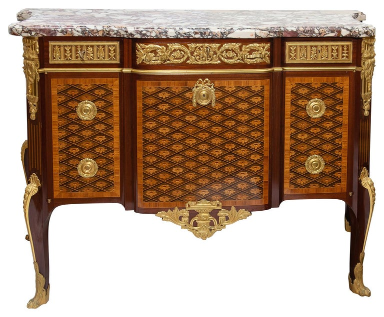 19th Century French Louis XVI Style Commode Signed Somani For Sale 5