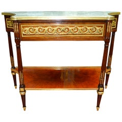 19th Century French Louis XVI Style Desert Table/Console