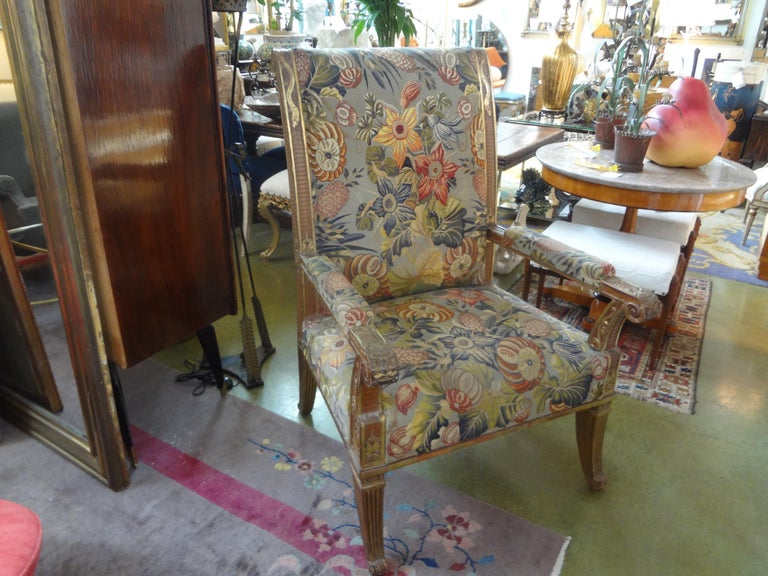 19th Century French Louis XVI Style Giltwood Chair For Sale 8