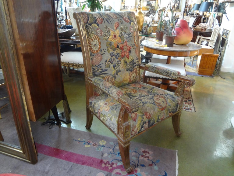 19th Century French Louis XVI Style Giltwood Chair For Sale 9