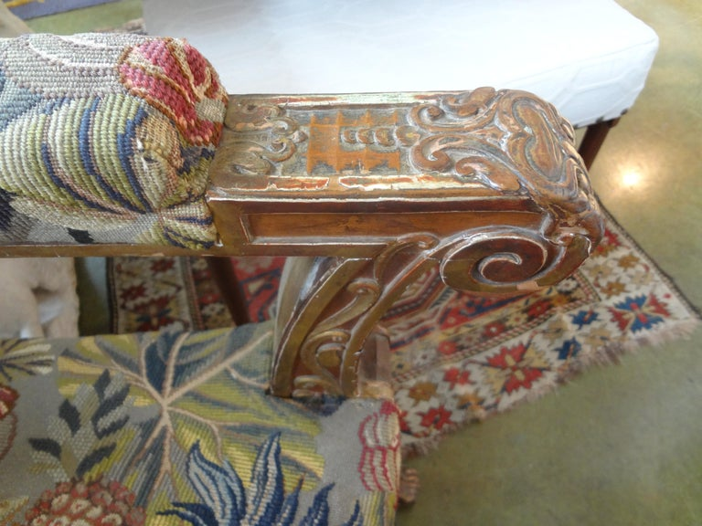 19th Century French Louis XVI Style Giltwood Chair In Good Condition For Sale In Houston, TX