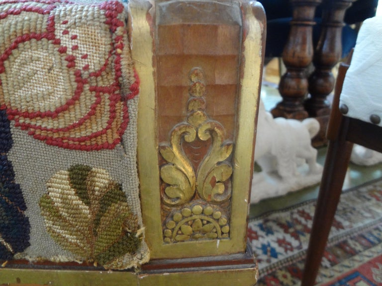 19th Century French Louis XVI Style Giltwood Chair For Sale 1