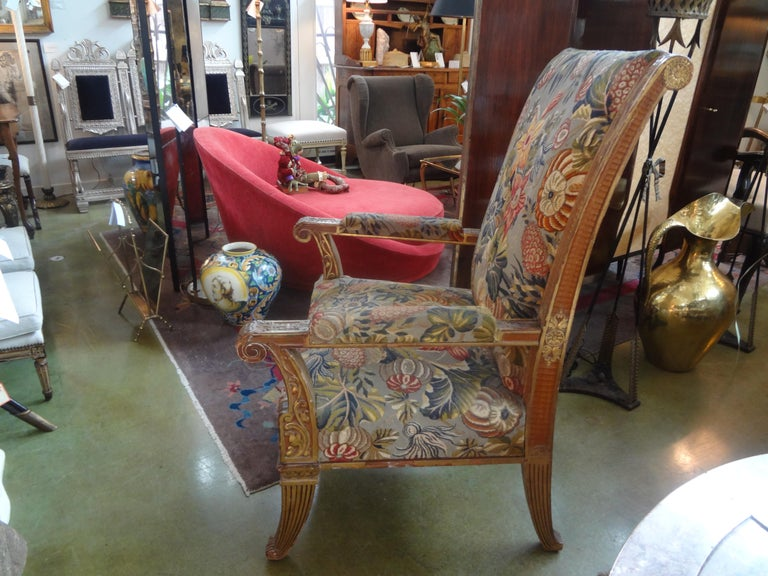 19th Century French Louis XVI Style Giltwood Chair For Sale 4