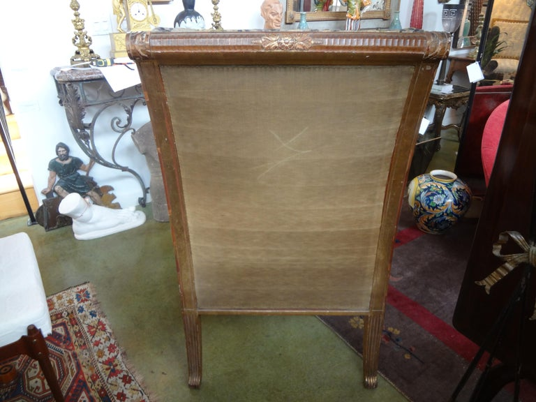 19th Century French Louis XVI Style Giltwood Chair For Sale 6
