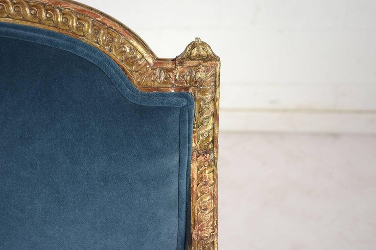 19th Century French Louis XVI Style Giltwood Bergères For Sale 7