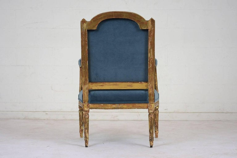 19th Century French Louis XVI Style Giltwood Bergères For Sale 3