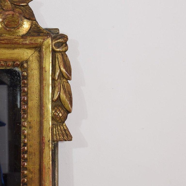 Wood 19th Century French Louis XVI Style Giltwood Bridal Mirror