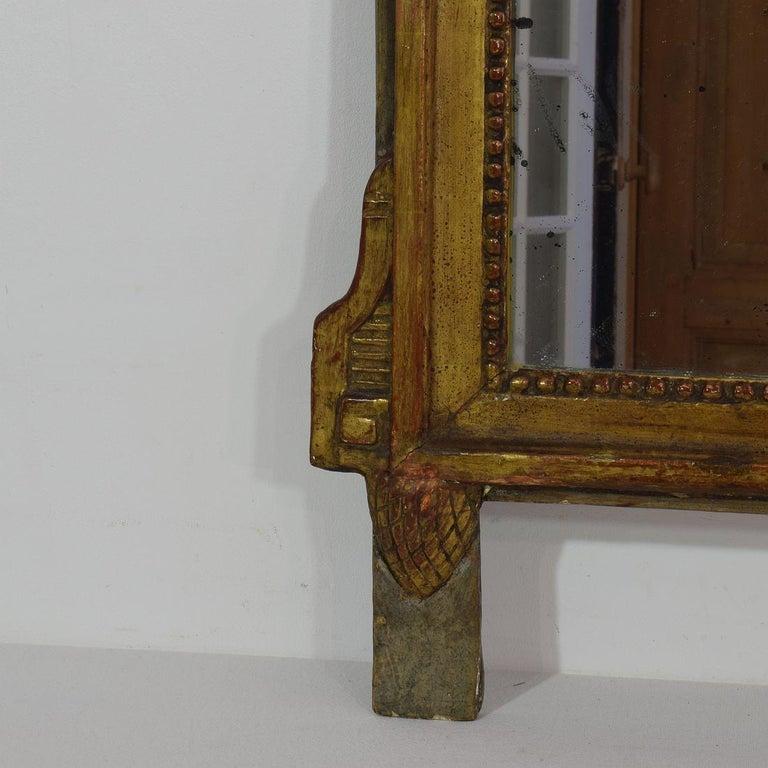 19th Century French Louis XVI Style Giltwood Bridal Mirror 1