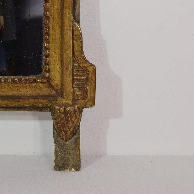 19th Century French Louis XVI Style Giltwood Bridal Mirror 2