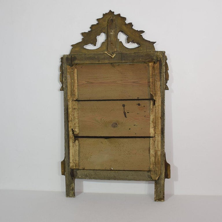 19th Century French Louis XVI Style Giltwood Bridal Mirror 3