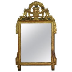 19th Century French Louis XVI Style Giltwood Bridal Mirror