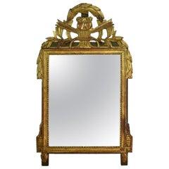 19th Century French Louis XVI Style Giltwood Bridal Mirror