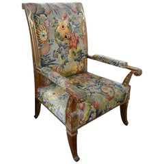 19th Century French Louis XVI Style Giltwood Chair