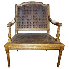 19th Century French Louis XVI Style Giltwood Children's Chair