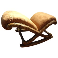 19th Century French Louis XVI Style Giltwood Footstool