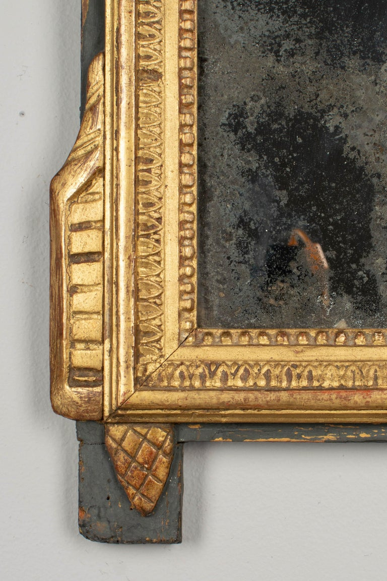 19th Century French Louis XVI Style Giltwood Mirror 1