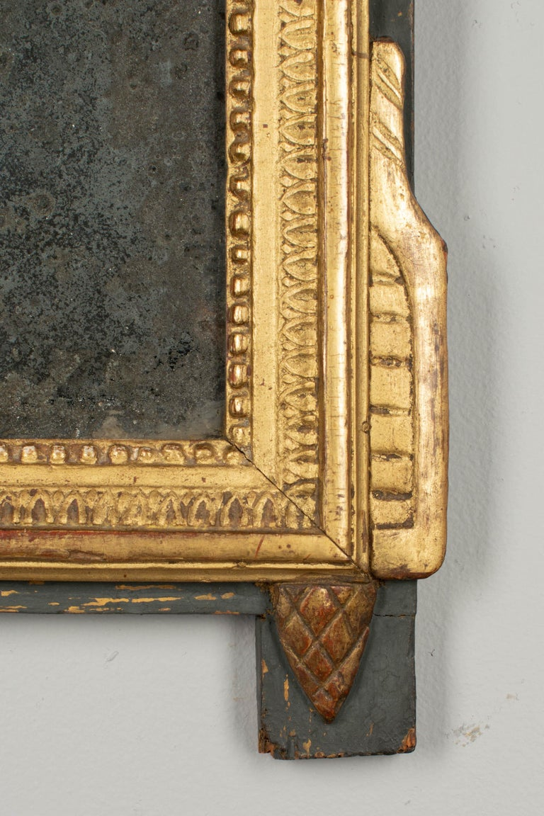 19th Century French Louis XVI Style Giltwood Mirror 2